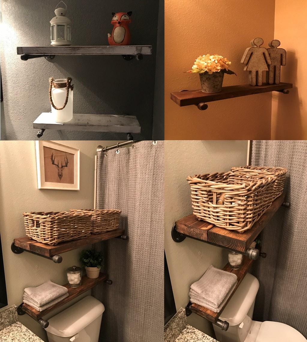 Shelves, Hanging Shelves, Wood Shelves, Bathroom Shelves, Kitchen Shelves,  Rustic Shelves, Rustic Wood Shelving, Industrial Wood Shelving