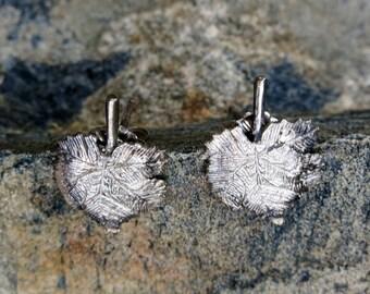 """Sterling Leaf Earrings, Posts, Stamped """"925"""""""