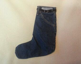 Denim Stocking Dark Blue