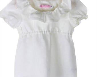 Pure white linen top