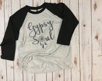 Gypsy Soul 3/4 Baseball Sleeve Tshirt
