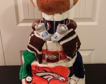 Denver Broncos Diaper Cake