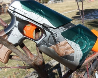 Forest Steampunk NERF Dart Tag Sharp Shot Modification and Paintjob