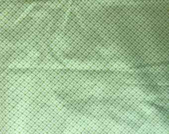 Green Flannel HALF YARD