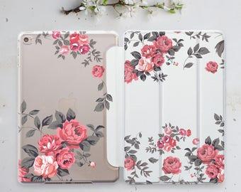 Floral iPad Mini Case Flowers iPad Mini 3 iPad Air 2 Case iPad Mini Cover iPad Mini 4 iPad 9.7 2017 Smart Cover iPad Hard Smart Case WC4511