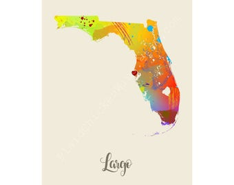 Largo Florida Largo Map Largo Print Largo Poster Largo Art Largo Gift Largo Wall Decor