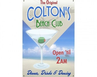 "Personalized Beach Club Martini, 12"" x 18"""