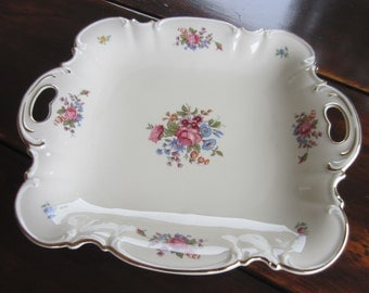 Vintage Hutschenreuther Serving Bowl/ Plate With Flower Decoration