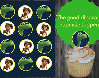 The good dinosaur cupcake toppers