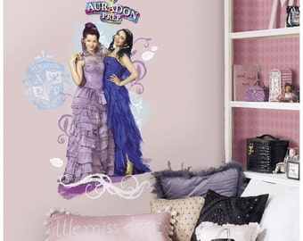 Descendants mal and evie bedroom/birthday wall decal decor