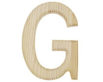 Wooden Letter G Etsy