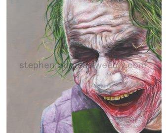 Artists print: Joker.
