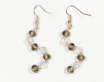 S-shaped drop earrings MJ0093