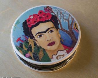 Frida Mirror, Frida Compact Mirror,