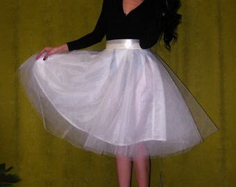 Ivory or other colors Tulle Tutu Skirt