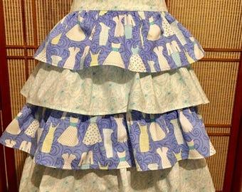 Ruffled apron , 4 tier apron , half apron