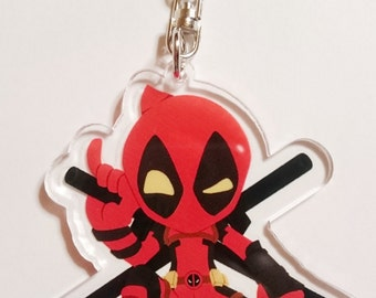 Deadpool acrylic key ring [Deadpool acrylic key chain]