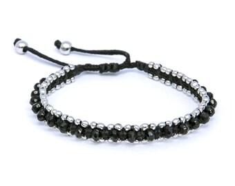 bracelet rodium onix