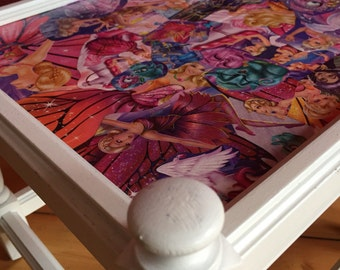 Comic furniture - upcycling - Barbie 2.0 - stool - side table
