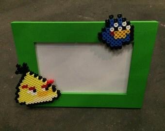 Angry birds (2) Hama bracket Pearl photo frame
