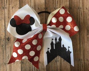Disney Cheer Bow, Minnie Mouse, you choose color