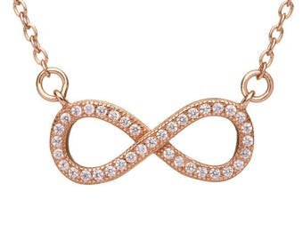 Rose Gold Infinity Pendant