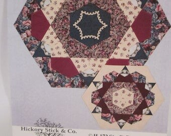 Quilted Centerpiece, Table Topper of Christmas Tree Skirt