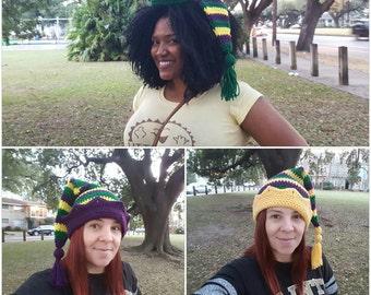 Handmade Crochet Festive Mardi Gras Hats