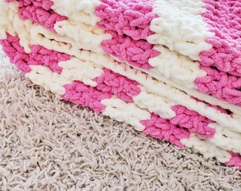 Ultra soft chunky baby blanket