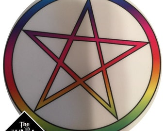 Rainbow Pentacle Sticker