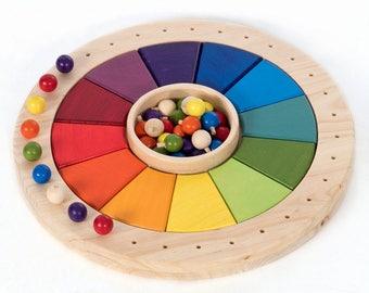 Annual calendar Waldorf Montessori, calendar perpetual 40 CM
