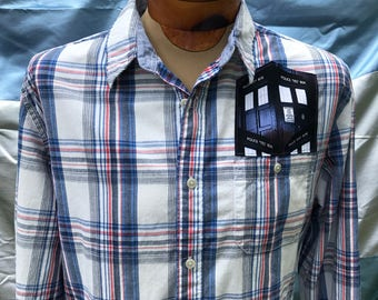 Doctor Who Shirt- Police Box- Doctor Who Gift- Tardis- Pop Culture- Doctor Who Fan- Geek- Nerd- Eco- Size Medium