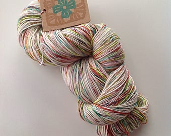 hand painted speckled yarn