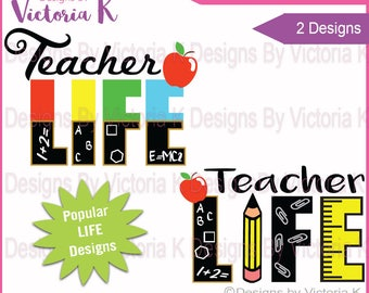 Teacher life svg | Etsy