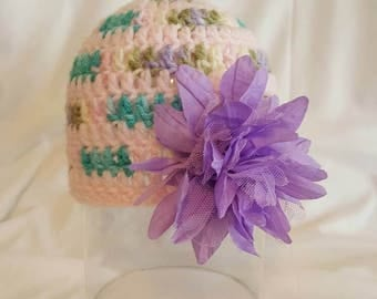 Multicolored Flower Hat