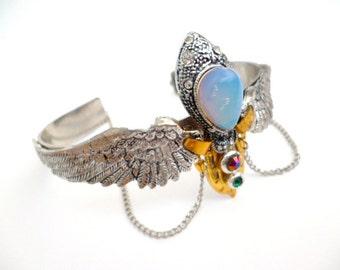 Steampunk Bracelet _STB654512483347_Steampunk accessories_ Bracelets_ Angel_Gift Ideas