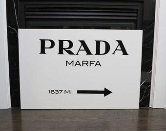 Prada Marfa insprired Print 16x20 on Stretched Canvas
