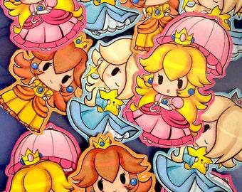 Mario Princess Stickers set (3 Styles)