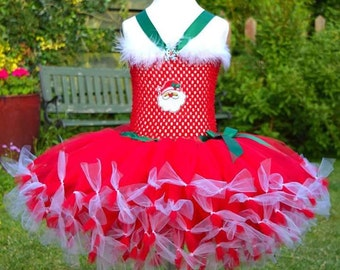 Christmas tutu dress with santa