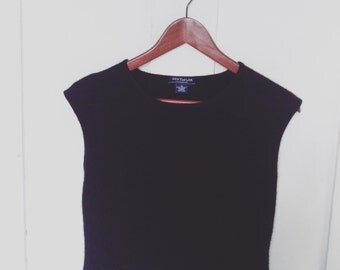 Ann Taylor Black Cashmere Sweater Vest/ Vintage Black Pure Cashmere Sweater Vest/ Ann Taylor Cashmere