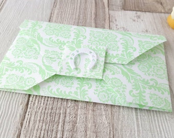 Wedding Envelopes - Wedding Gift Envelope - Wedding Horseshoe - Patterned Envelopes - Money Envelope - Gift Card Envelope - Gift Card Holder