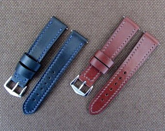 Custom leather watch strap for Dress/Casual watch 20 mm.