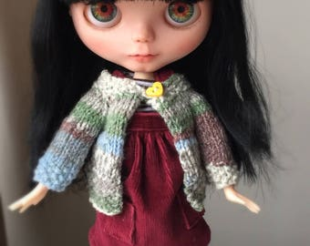 Blythe doll hand knitted cardigan