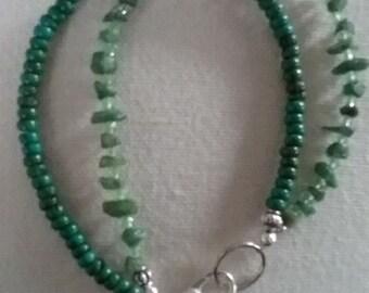 Adventurine and Magnesite Gem Bracelet