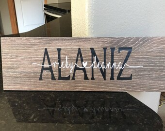 Custom name tile-personalized gift-ceramic name tile-housewarming gift- house gift