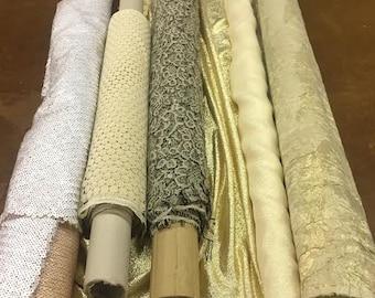 Assorted Gold Tone Fabrics