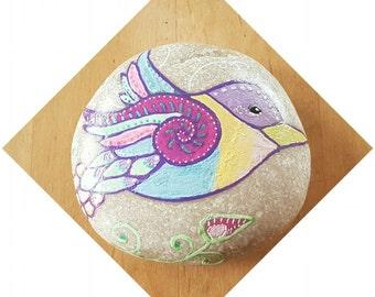 Stein bild flieg mit mir kiesel art pebble art for Dekoration ruhestand