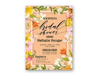 Bridal Shower Invitation - Printable Wedding Invitation - Digital Invite - Digital File - Printables