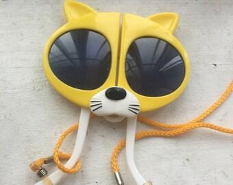 Cute vintage Kids foldable kitty sunglasses