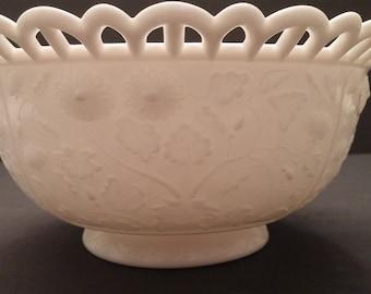 Imperial Milk Glass Daisy Deep Bowl